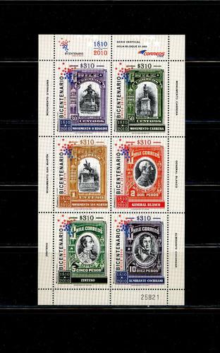 sellos postales chile. conmemoración sellos del centenario.