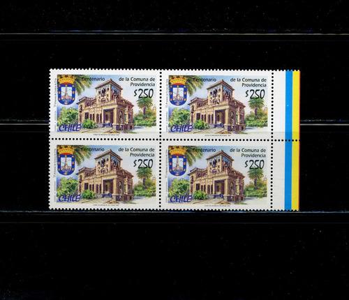 sellos postales de chile. 100 años comuna de providencia.