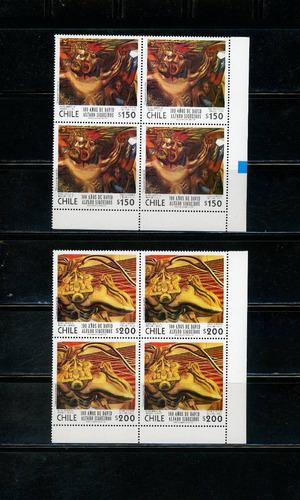 sellos postales de chile. 100 años de david alfaro siqueiros