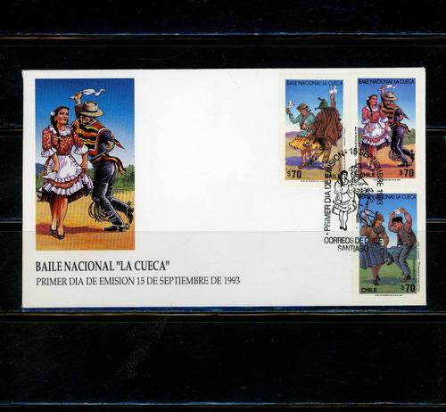 sellos postales de chile. baile nacional  la cueca .