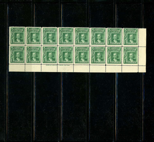 sellos postales de chile. colón. serie peso bronce, 1904-09.