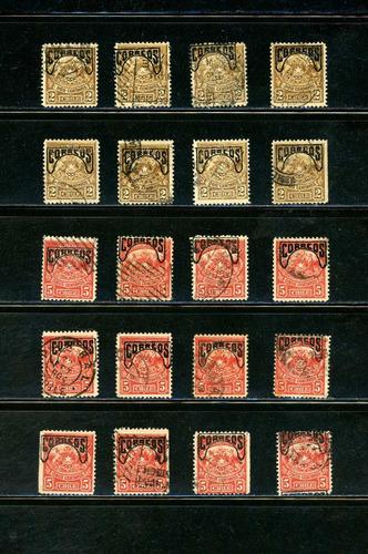 sellos postales de chile. sellos de telégrafos sobrecargados