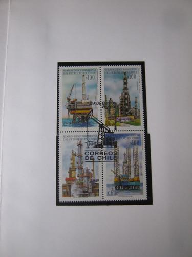 sellos primer día 50 años del descubrimiento pretroleo