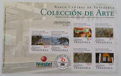 sellos serie de 6 valores colección de arte bcv 2010