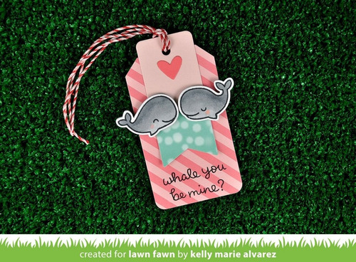 sellos + suajes lawn fawn scrapbook manualidades ballenas