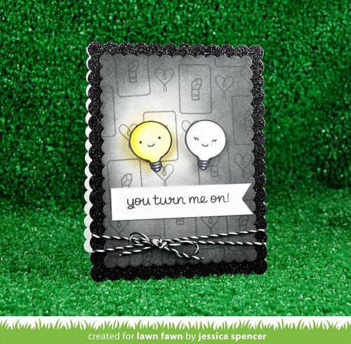 sellos + suajes lawn fawn scrapbook manualidades foco turn