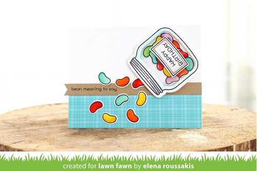sellos + suajes lawn fawn scrapbook manualidades frasco bote