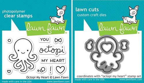 sellos + suajes lawn fawn scrapbook pulpo octopi my heart