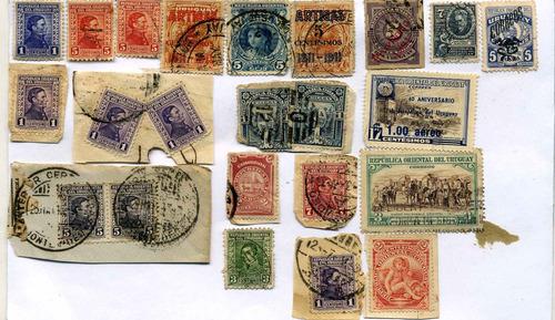 sellos uruguay - 22 sellos antiguos