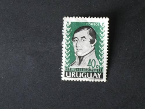 sellos uruguay-gral. fructuoso rivera   - de 40 cts