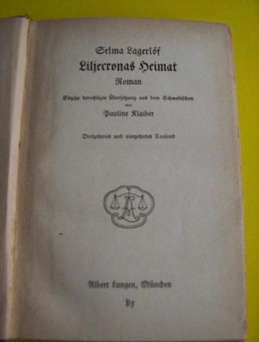 selma lagerlof -- libro año 1911 -est/ bueno -detalle leer