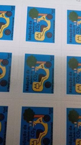 selo 1°porte carta não comercial  correios folha com 30