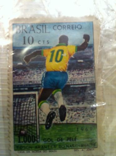 selo antigo , comemorativo aos 1000 gols