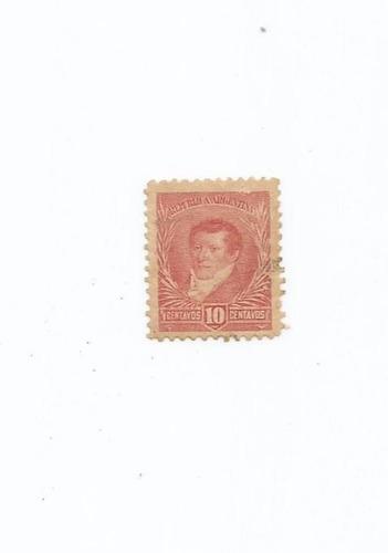 selo argentina,selo manuel belgramo,10c 1892,usado.ver descr