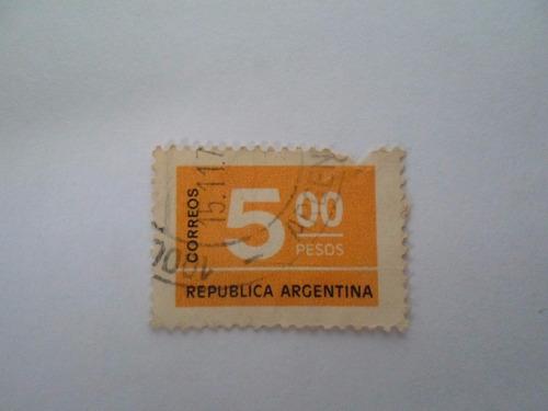 selo argentino correos 5 pesos