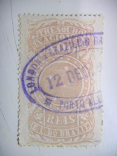 selo brasil - fiscal - 400 rs - cruzeiro do sul - 1893