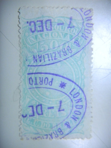 selo brasil - fiscal - 500 rs - e. u. do brazil - 1893