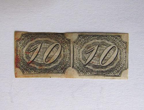 selo brasil rhm 4 - par 10 reis inclinados preto 1846