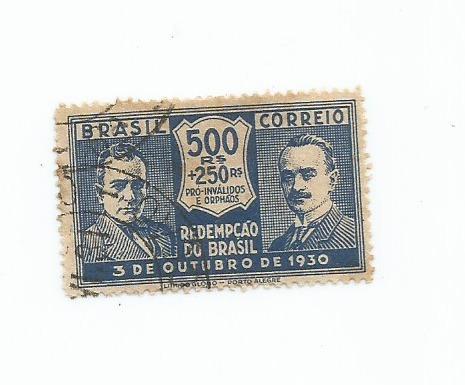 selo brasil,história/revolução,500r 1930 usado.ver descr