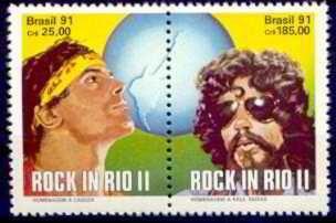 selo brasil,série rock in rio 2/cazuza e raul 91,n+ brinde.
