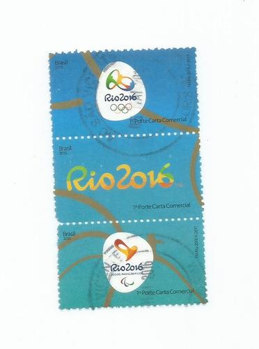 selo brasil,terno logo olimpíadas 2016,usado.ver descrição.