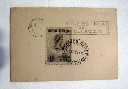 selo constituição de 1946 com carimbo 1º dia de circulação