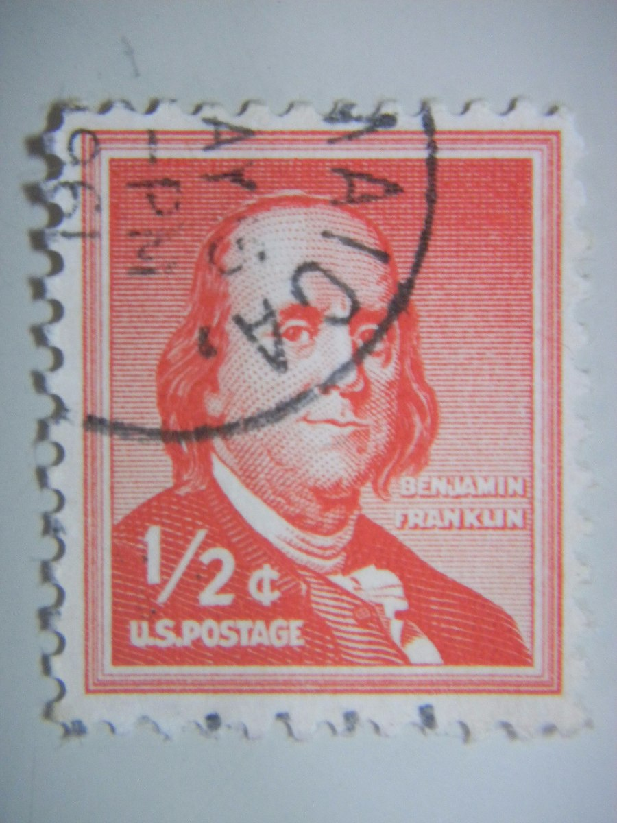 Resultado de imagem para selo de Benjamin Franklin