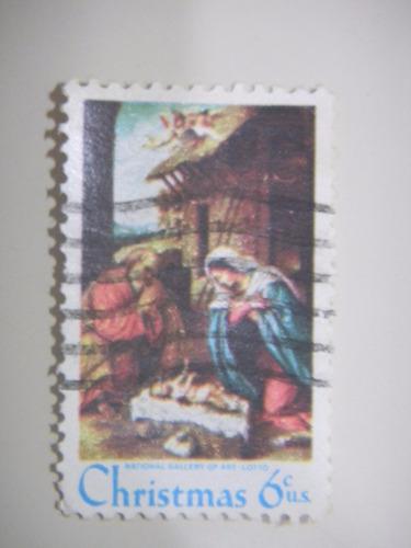 selo eua - emissao de natal - 1970