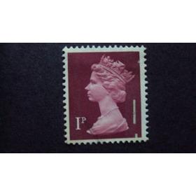 Selo Grã Bretanha - 1p - Queen Elizabeth  Ii - Com Erro  Imp