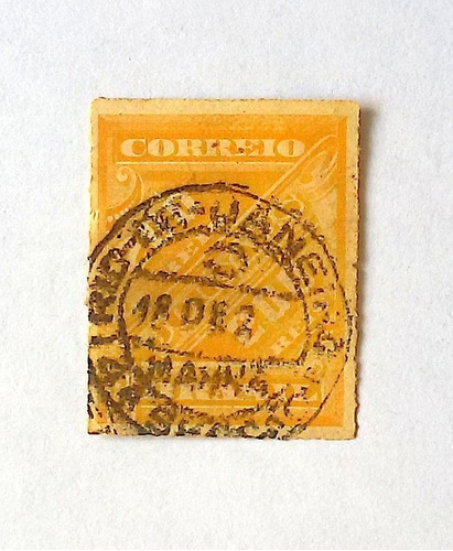 selo j5 cifras obliquas 200 reis jornais 89' rhm $10 xix 1
