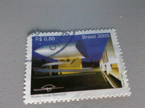 selo postal brasil 2005 museu oscar niemeyer
