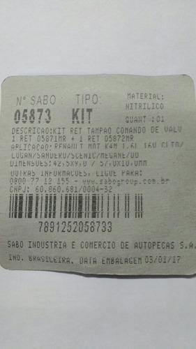 selo tampão comando clio duster megane livina 1.6 16v sabó