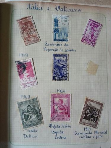 selos antigos e raros italia e vaticano