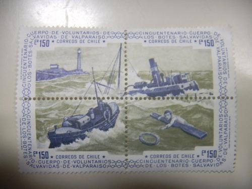 selos chile - 50º anivers do serv de salvavidas de valparais