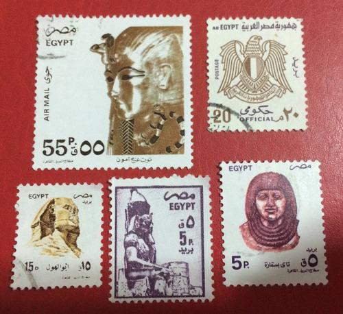 selos do egito - 5 selos (ver imagem) - frete 5,00