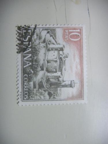 selos espanha - castelos - castelo de belver - 1970.