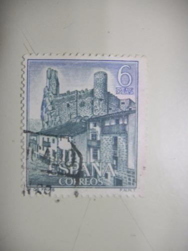 selos espanha - castelos - castelo de frias - 1969