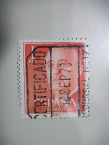 selos espanha - general franco - 1955.