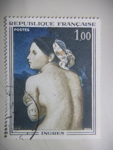selos frança - arte francesa - ingres - 1967