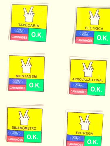selos internos de parabrisa ok ford qualidade total ford ok