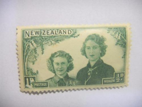 selos nova zelandia - selo da saúde - 1944