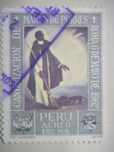 selos peru - pinturas da canonização de san martin de