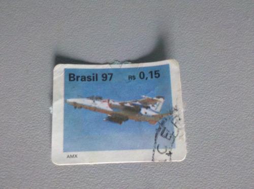 selos postais brasil 97 aviões.(emb-321 tucano,amx,emb-315)