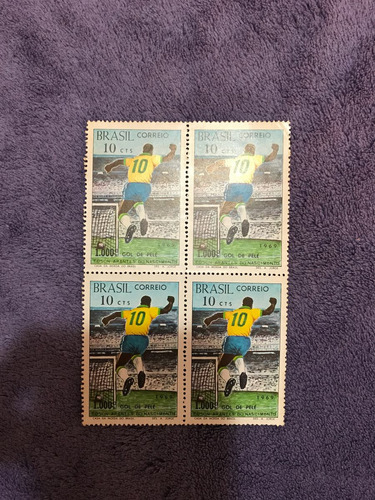 selos raros brasil pelé 1000 gols