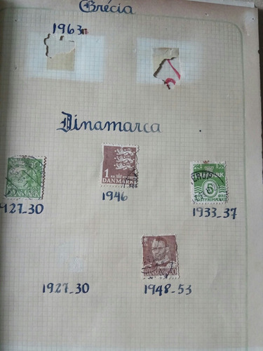 selos raros dinamarca antigos