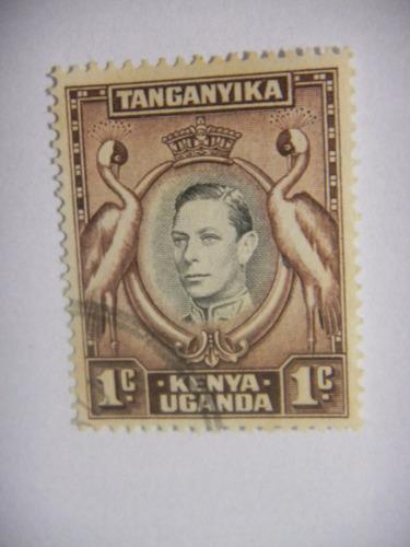 selos uganda -quenia,uganda, tanganica - rei george vl 1938