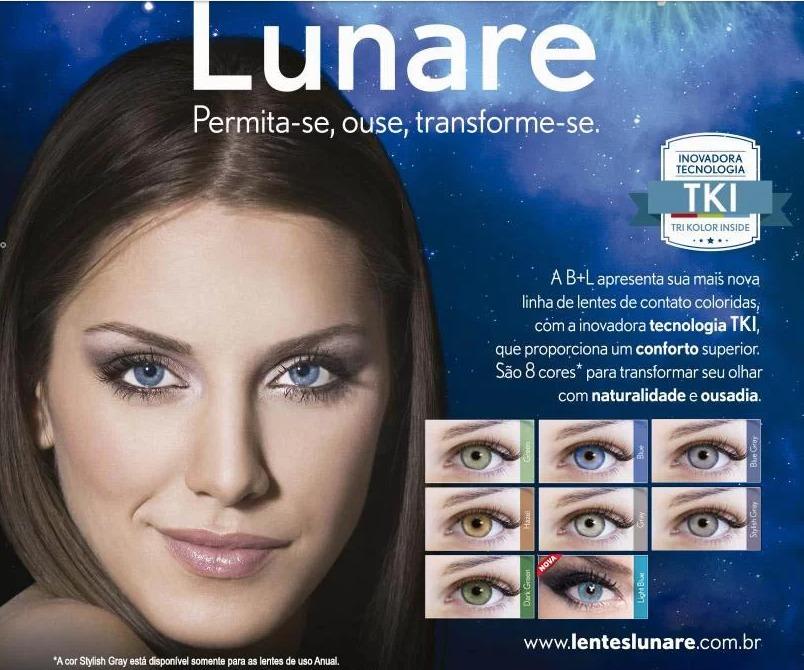 Lentes De Contato Lunare Anual - Sem Grau + Estojo Lentes - R  187 ... 0e0e424451