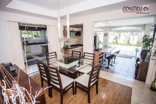 *sem permuta* casa com 4 dormitórios à venda, 448 m² por r$ 1.850.000,00 - alphaville graciosa - pinhais/pr - ca0052