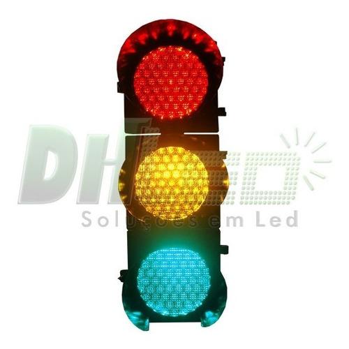 semáforo led 3 fases 12 ou 24v atende norma nbr7995 da abnt