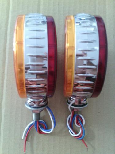 semáforo redondo 4  48 led ámbar / rojo 24v rf ln4
